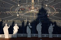 St  Peter's square from the Dome of the Basilica, Rome, Italy