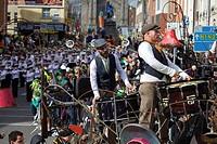 a parade for saint patrick´s day, dublin ireland