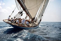 Boat race, vintage sailboat, Balearic Islands, Spain