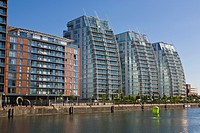 Modern Apartments, Salford Quays, England