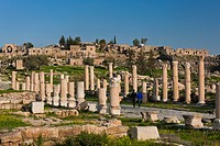 Jordan, Umm Qais-Gadara, ruins of ancient Jewish and Roman city