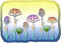 new year`s day, scene, korean new year, traditional pattern, lotus flower, tradition, landscape