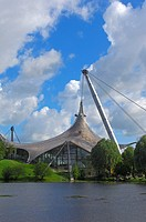 Munich, Olympiapark, Olympia Park, Olympic Park, Bavaria, Germany, Europe.