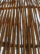 traditional Bamboo fence, pune, maharashtra, india.