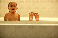 Children in bathtub
