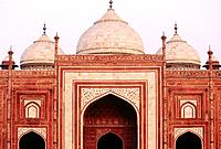 Jawab Mosque located on the Eastern side of Taj Mahal, Agra, India