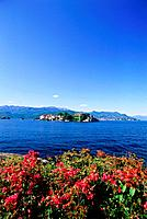 View of Isola Bella from Stresa, Boromean Islands, Lake Maggiore, Piemnonte, Italy