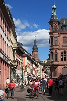 D-Heidelberg, Neckar, Rhine-Neckar area, nature reserve Neckartal-Odenwald, Bergstrasse, Odenwald, Baden-Wuerttemberg, old town, Hauptstrasse, shoppin...