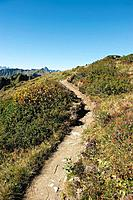Austria, Kleinwalsertal, View of hiking trail on mountain
