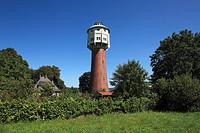 D-Edingen-Neckarhausen, Neckar, Rhine-Neckar area, Upper Rhine Valley, Baden-Wuerttemberg, water tower in Edingen