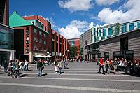 Department store Galeria Kaufhof and shopping center Stubengassen, Münster, Westphalia, Münsterland, North Rhine_Westphalia, Germany, Europe / Warenha...