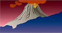 Natural disaster, scenery, nature, mountain, landscape, volcano (thumbnail)