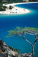 Beach in the Lagoon of Oludeniz, Oludeniz, Lycian coast, Turkey