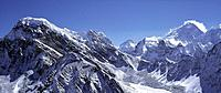 View from Gokyo peak onto Mount Everest, Lhotse, Makalu, Nepal, Asia