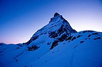 Eas face of Matterhorn mountain, Valais, Switzerland