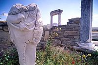 Agora Italica, Delos, Cyclades, South Aegean, Greece