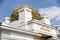 Secession building with the gilded bronze laurel leaves cupola, Vienna, Austria