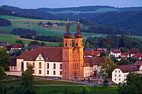 Village of St. Peter with abbey, Architekt Peter Thumb, Southern Part of Black Forest, Black Forest, Baden_Wuerttemberg, Germany, Europe