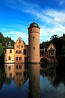 Mespelbrunn castle, Mespelbrunn, Spessart, Bavaria, Germany