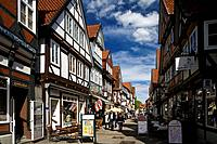 Half timbered houses at the historical old town of Celle, Lower Saxony, Germany, Europe