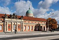 Breadth Street, Stables, Film Museum, Nikolai Church, builder Georg Wenzeslaus von Knobelsdorff, Potsdam, Brandenburg, Germany