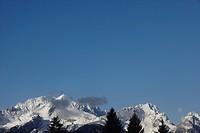 View at Wettersteinmountains with Alp_and Zugspitz, Garmisch_Partenkirchen, Bavaria, Germany, Europe