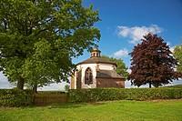 Frohnertkapelle near Oberkail, chapel where Graf Philipp Dietrich von Manderscheid was buried Eifel, Rhineland_Palatinate, Germany, Europe