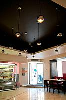 door in cafe