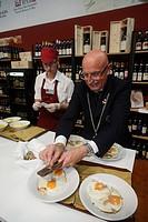 White Truffles Dish, Truffle Fair, Alba, Langhe, Piedmont, Italy