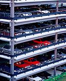 Multi_storey car park at the Airport Echterdingen, Germany