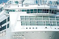 Detail of cruise ship