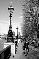 South Bank promenade London