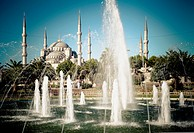 Blue Mosque and fountain  Istanbul, Turkey