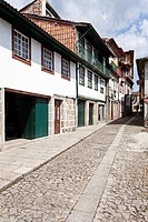 Historical Center medieval street of Guimaraes, Portugal  UNESCO World Heritage
