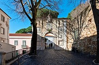 Entrance of Sao Jorge St  George Castle in Lisbon, Portugal