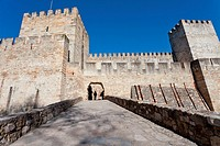 "Sao Jorge St  George Castle in Lisbon, Portugal  Entrance of the ""Castelejo' area - the inner, most defensive part"