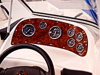 Dashboard instruments panel of a speedboat