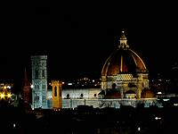 Panorama Of Florence By Night