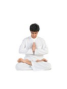 Boy in meditation posture MR779I