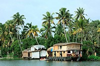 House boat at punnamada lake , Alleppey , Alappuzha , Kerala , India