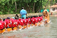 Boat race on punnamada lake , Alleppey , Alappuzha , Kerala , India