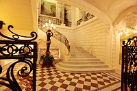 The main staircase of Shangri-La Hotel Paris  Paris  France