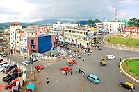 Aerial view of shillong town , Meghalaya , India