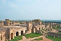 Golconda fort , Hyderabad , Andhra Pradesh , India