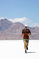 Man Jogging in Desert