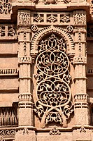 Carving of plant on the wall of rani sipri´s mosque , Ahmedabad , Gujarat , India