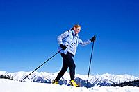 Pregnant Woman Cross Country Skiing