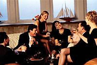 Couples Laughing at a Cocktail Party