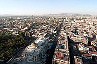 Panoramic view of Mexico City from Torre Latinoamericana