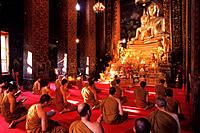 Buddhist Monks at Wat Bowon